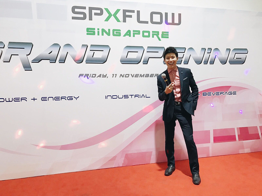 Emcee Singapore - Ainsley Chong, SPX Flow Office Opening 2