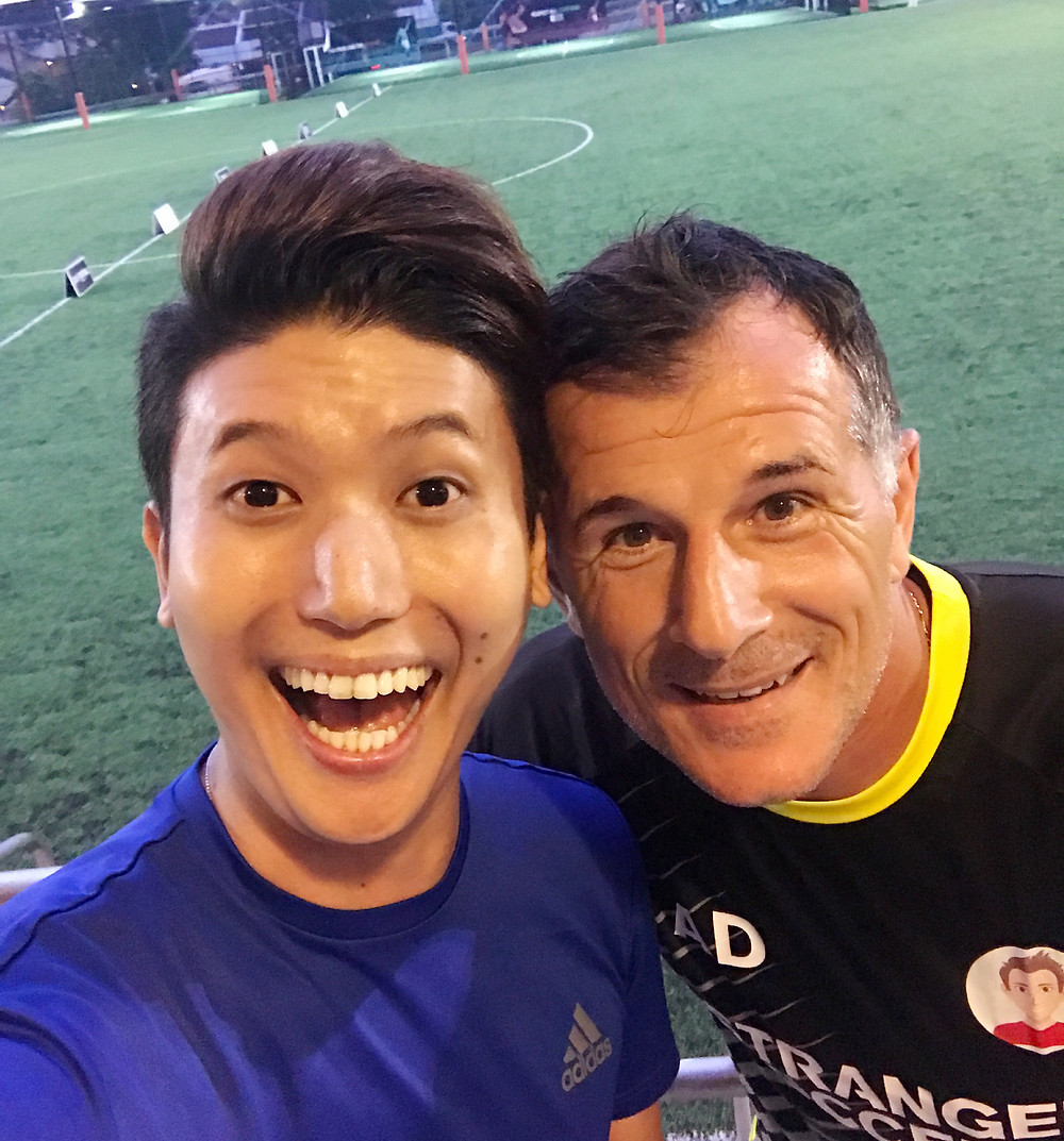 Emcee Singapore - Ainsley Chong, Stranger Soccer Games with The Legends