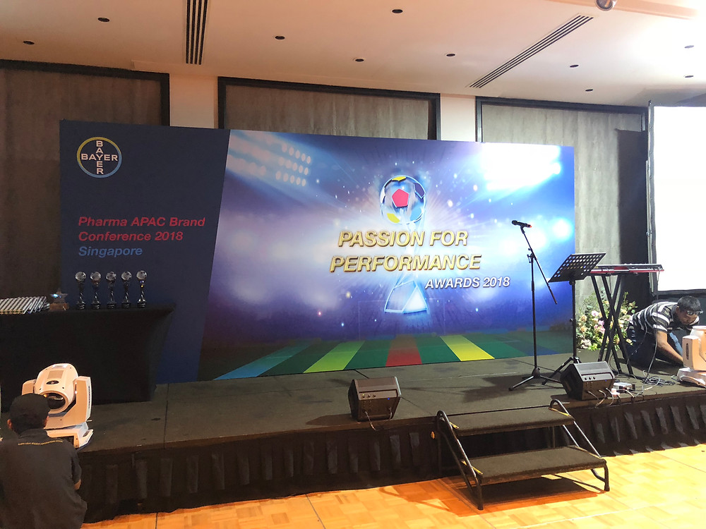 Emcee Singapore - Ainsley Chong, Bayer Pharma APAC Brand Conference Passion for Performance Awards 2018