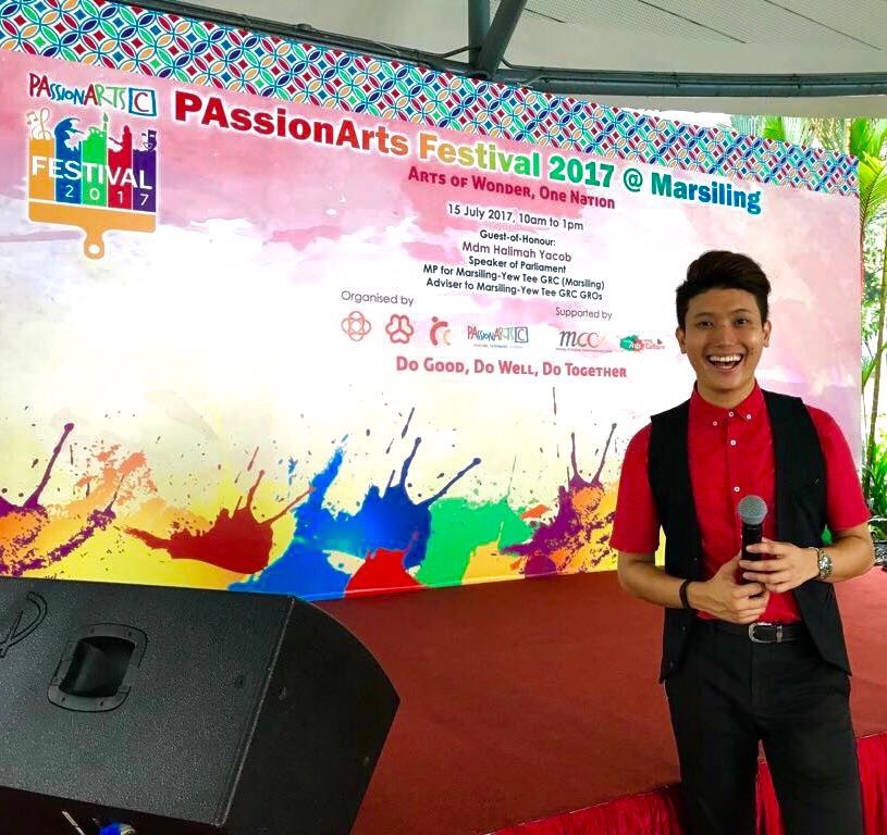 Emcee Singapore - Ainsley Chong, People's Association PAssionArts Festival 2017 @ Marsiling: Arts of Wonder, One Nation