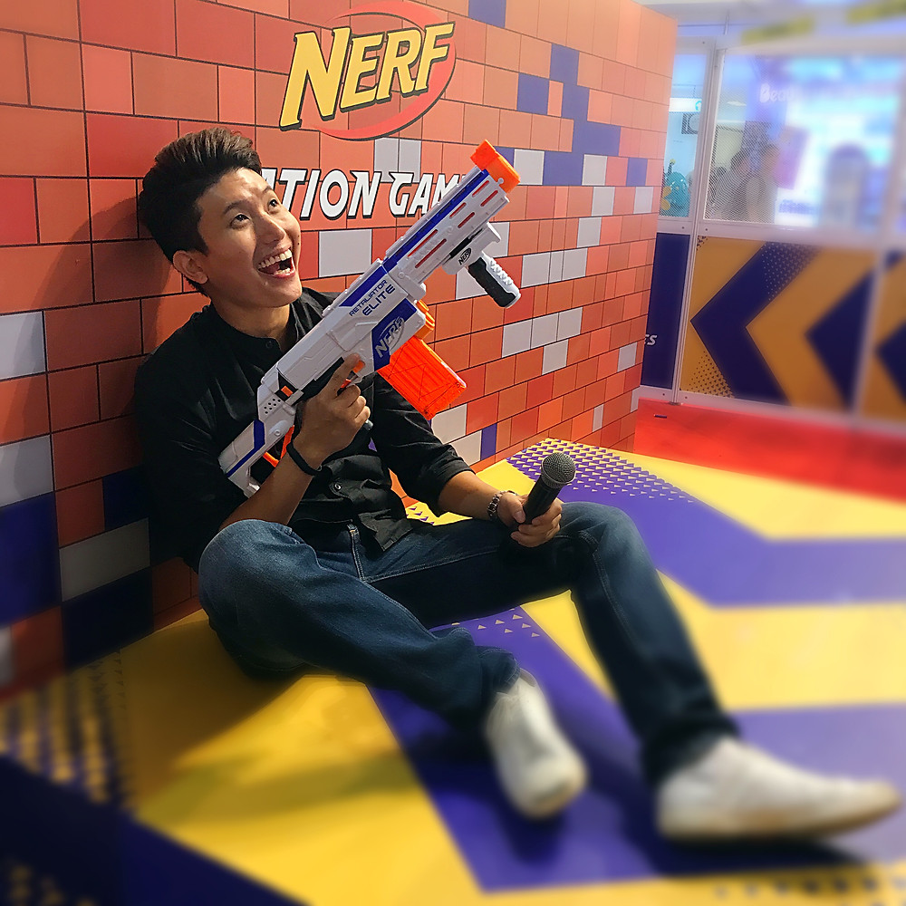 Emcee Singapore - Ainsley Chong, NERF Nation Games 2017