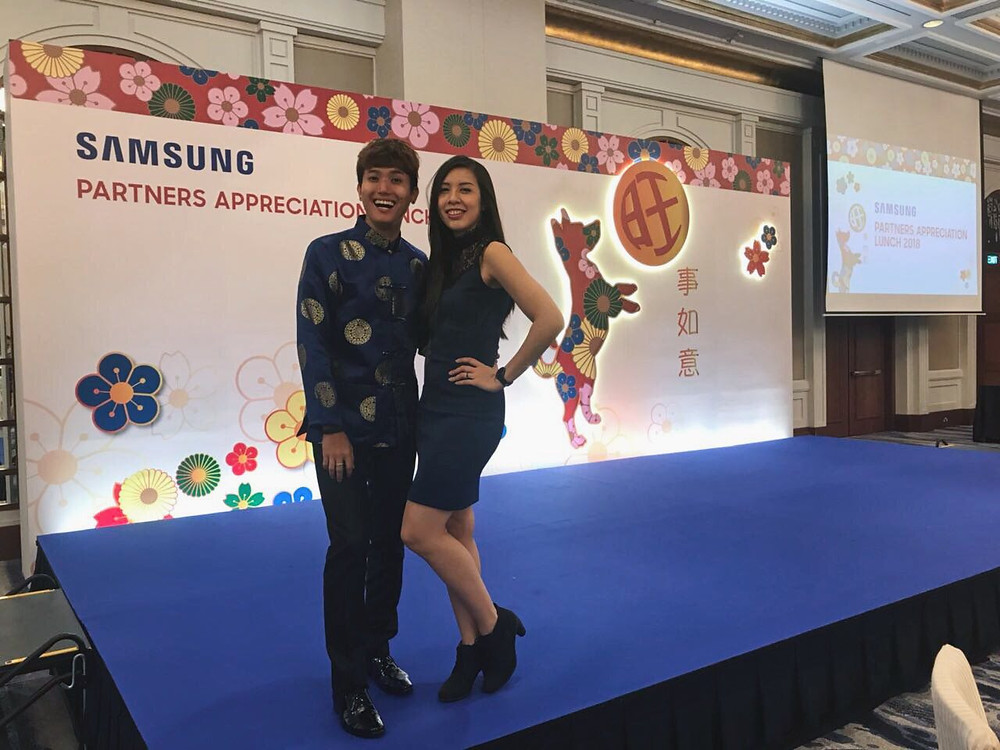 Emcee Singapore - Ainsley Chong, Samsung Partners Appreciation Lunch 2018