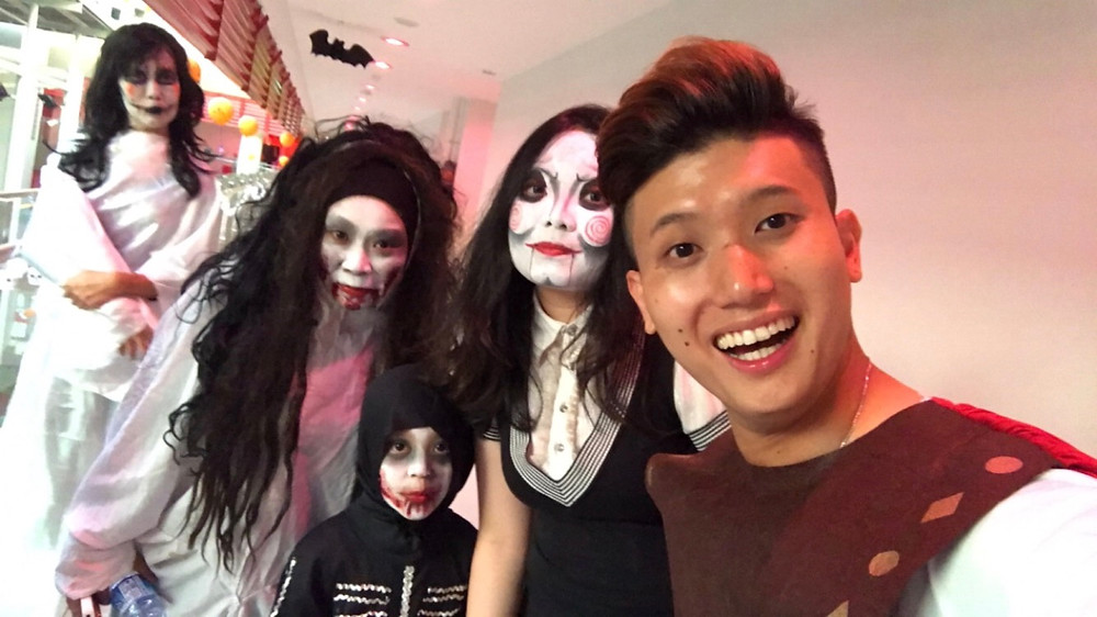 Emcee Singapore - Ainsley Chong, Leng Kee Community Club Happy Halloween Night 2017