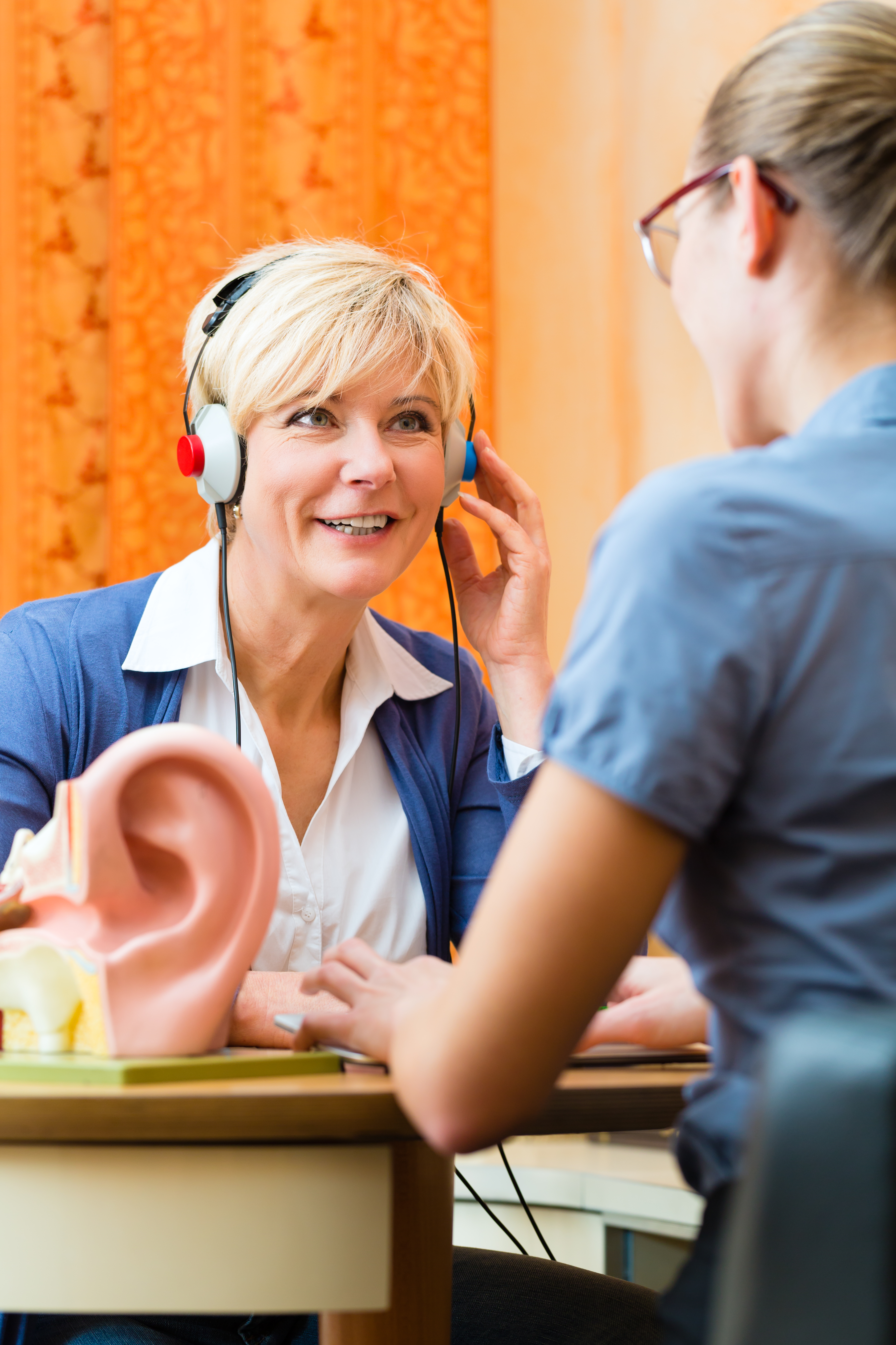 Hearing test in progress
