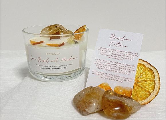 Lime Basil and Mandarin Crystal Candle