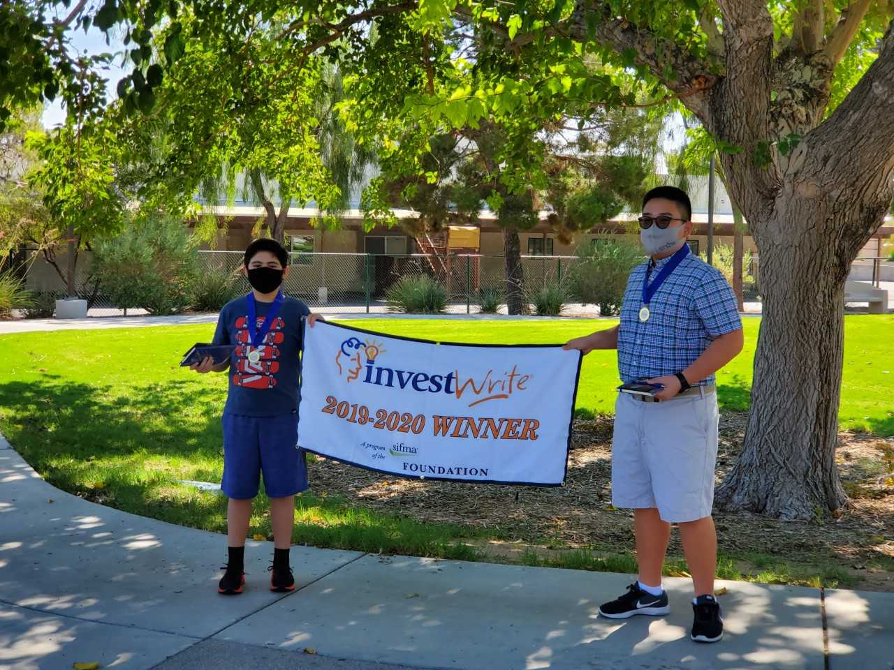 Spring 2020, National Winners Diego G. 10th, Kenneth C. 9th, Hyde Park Middle School, Las Vegas, NV