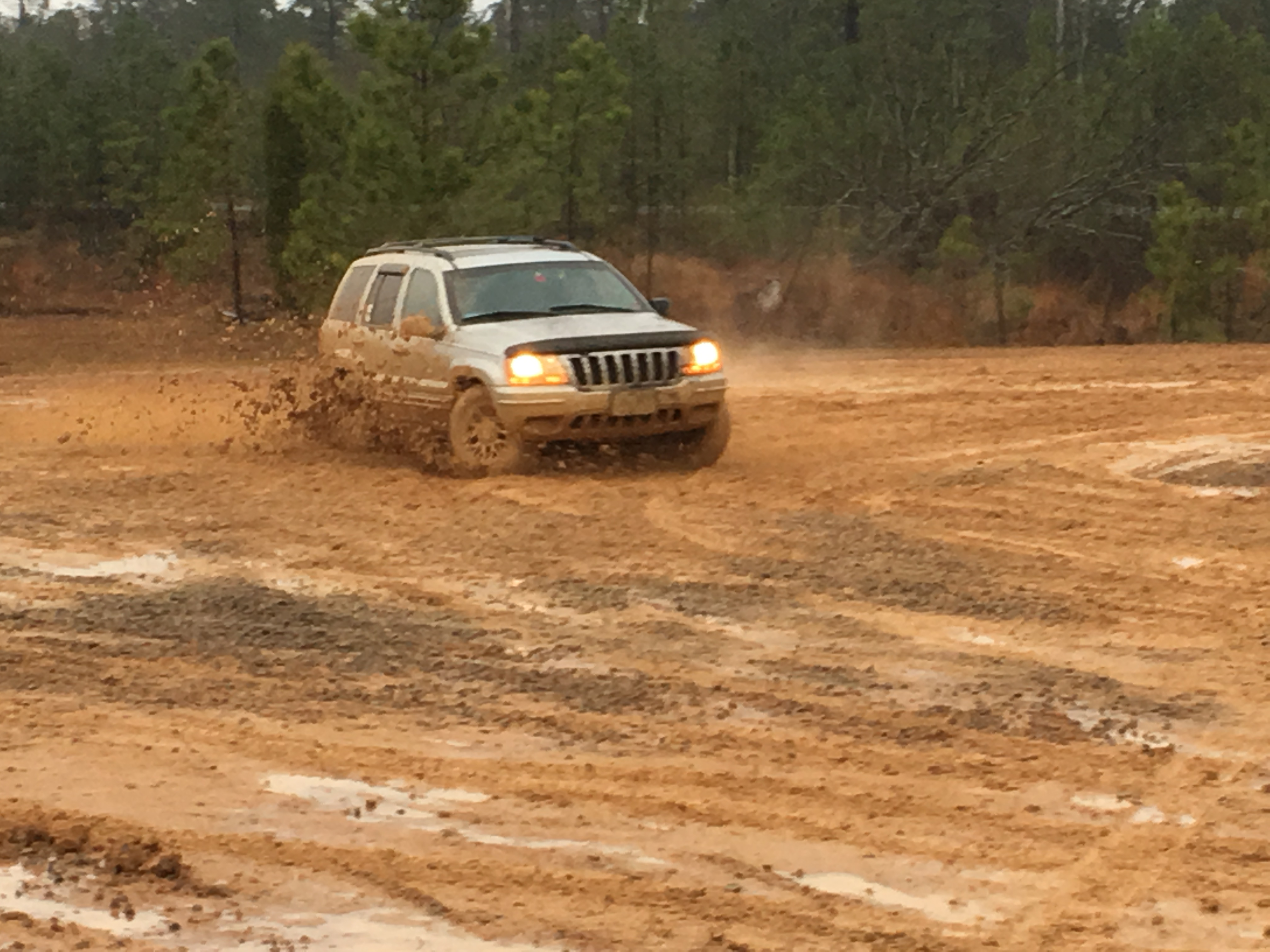 Older SUV in the mud ...