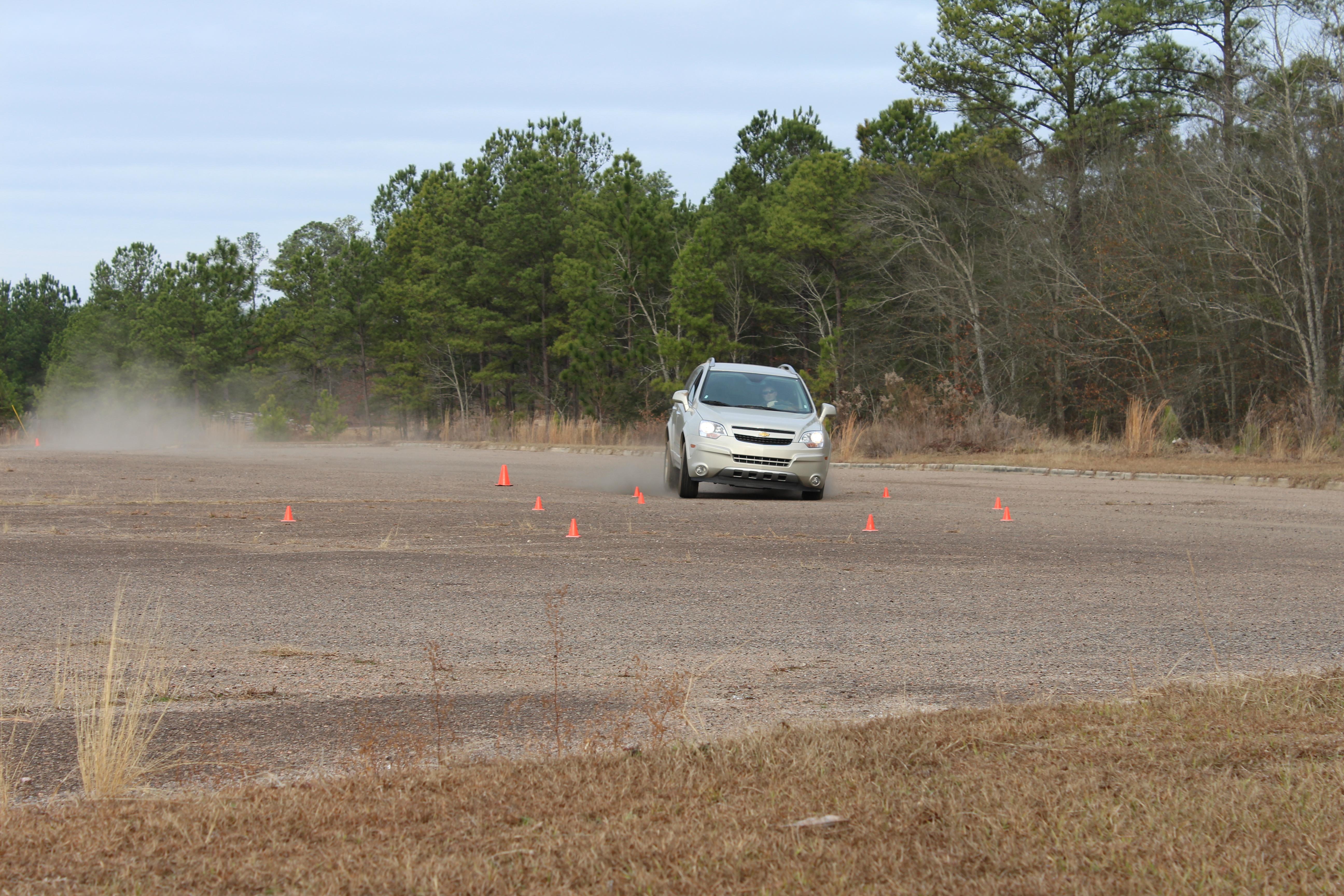Trail braking exercise on ...