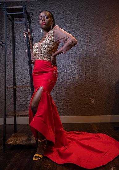 The Grand Hibiscus Regalia Evening/Prom Dress