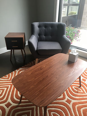 Picture of counseling office with chair