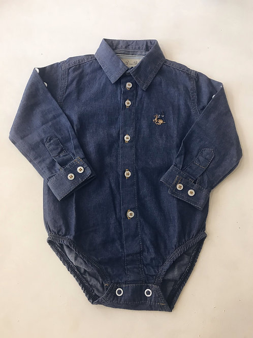 Camisa body jeans escuro