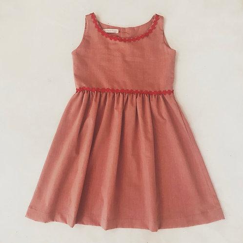 Vestido chambret vermelho
