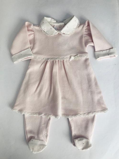 Macacão vestido rosa Larissa