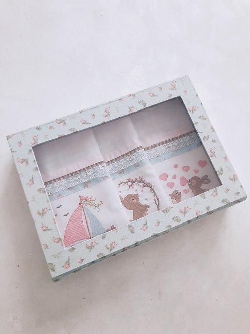 Kit caixa fraldas de boca coelho