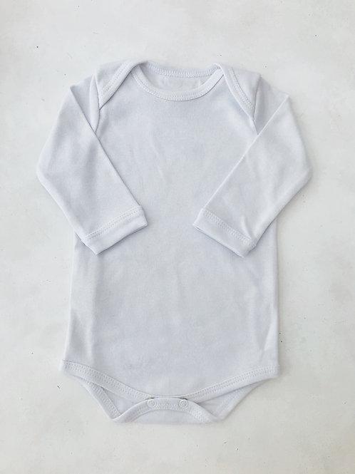 Body branco manga longa