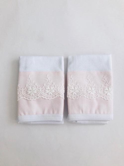 Kit fralda de boca rosa bebê renda