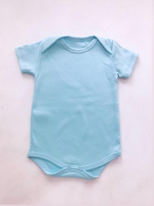Body  azul bebê manga curta