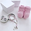 Thumbnail: Terço Murano rosa bebê na latinha
