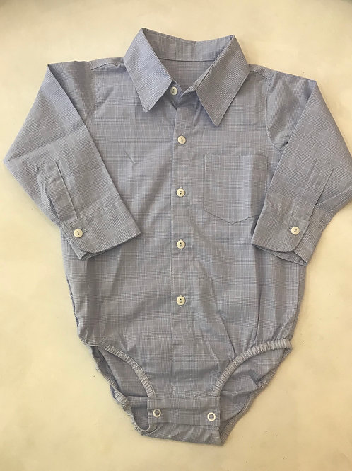 Camisa body xadrezinho azul