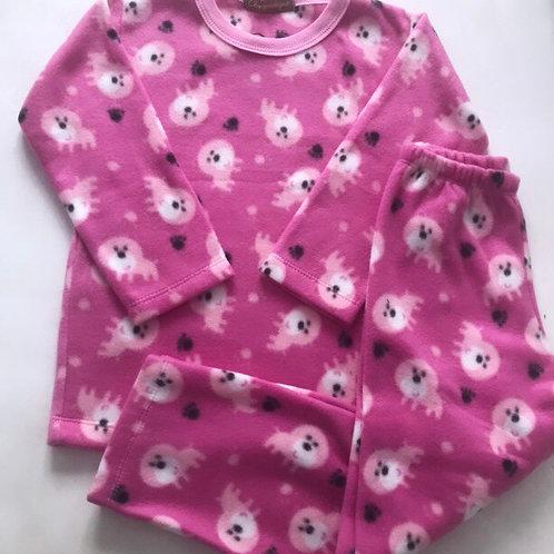 Pijama soft pink dog