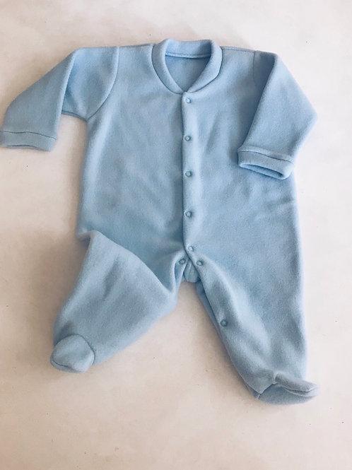 Macacão soft azul bebê