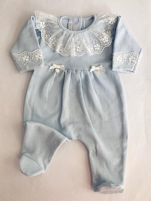Macacão azul bebê Leticia