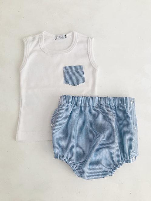 Conjunto regata bolso com shorts