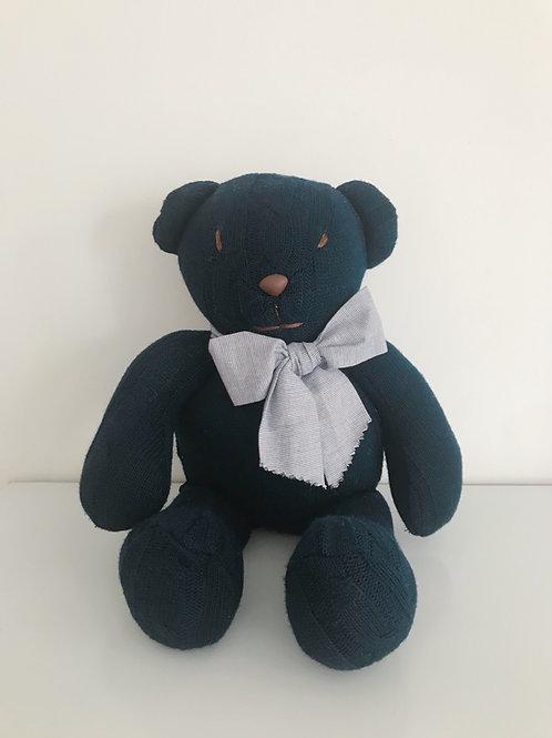Urso tricot marinho grande