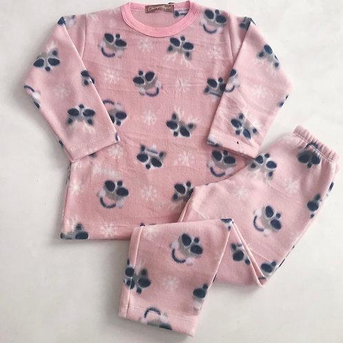 Pijama soft rosê raposa