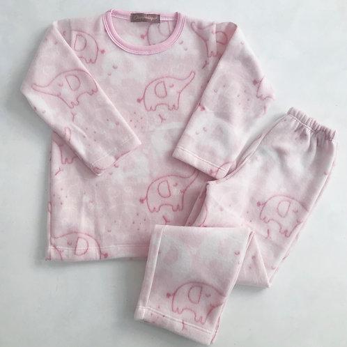 Pijama rosa soft elefante
