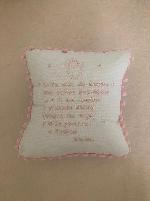 Almofada Santo anjo grelô rosa