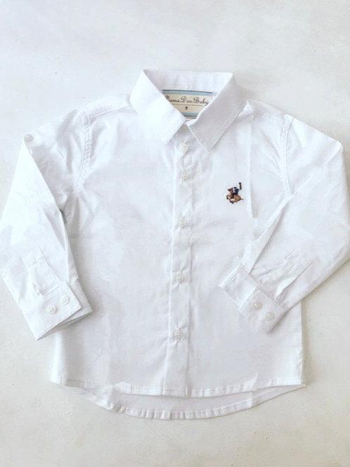 Camisa branca bordada