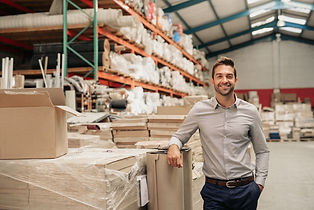 Portrait of a smiling warehouse manager
