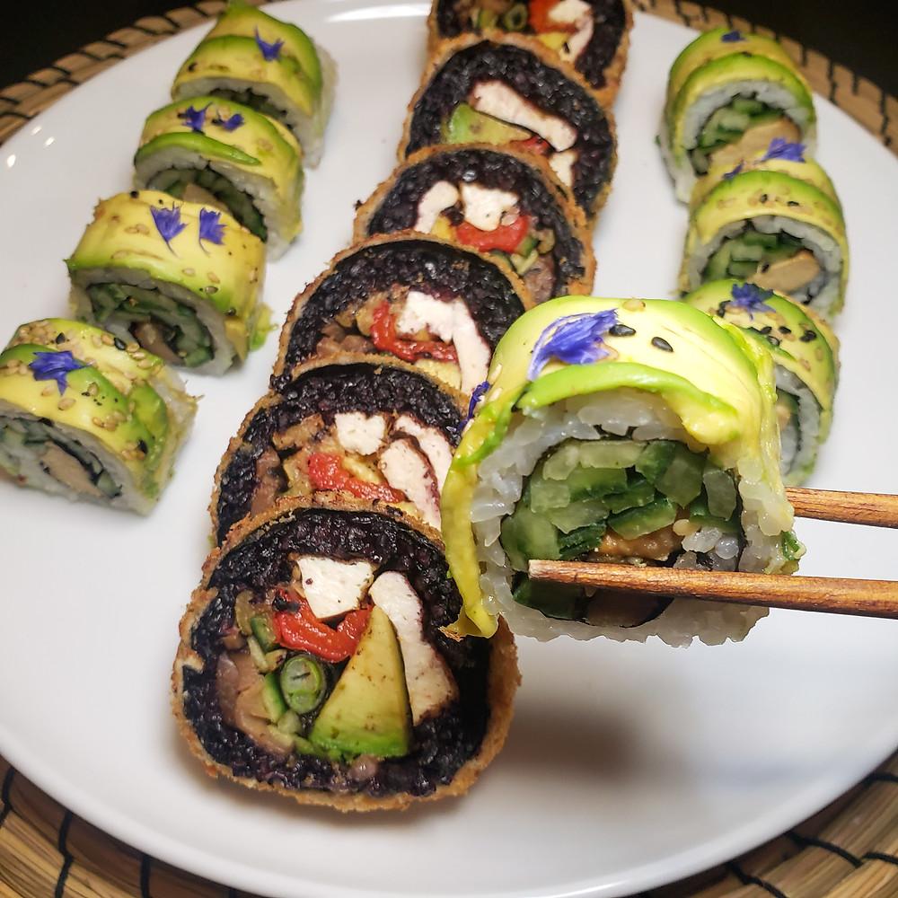 Repas offert par Ohana Sushi Vegan dans la Boite à Surprises