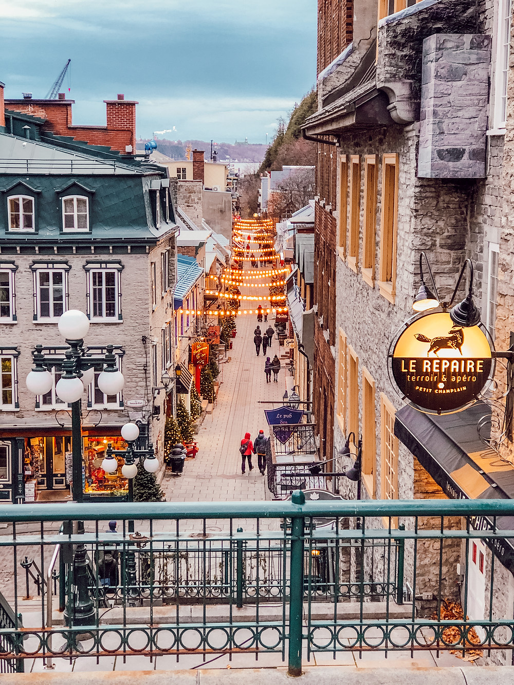 Quartier du Petit Champlain à Québec