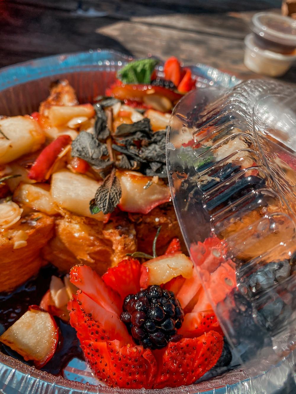 Repas offert pat Au Pain Perdu dans la boite à surprises