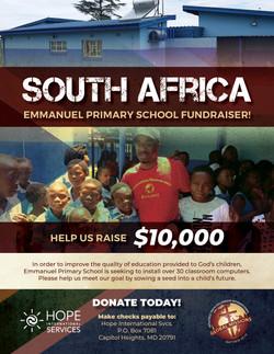South Africa Emmanuel School Fundraiser