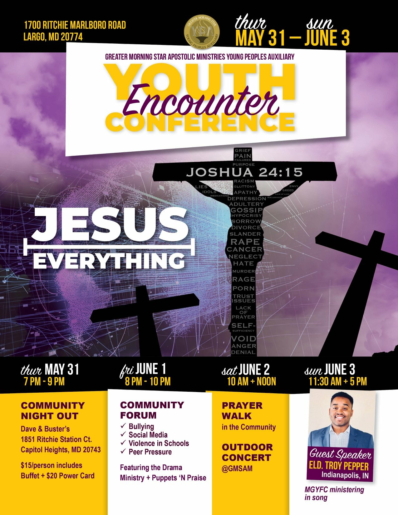 Youth Encounter Conference Flyer