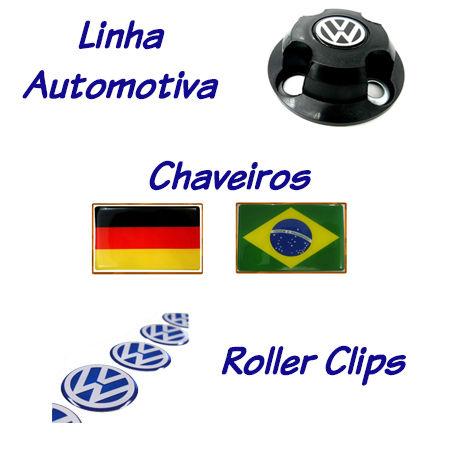 Etiquetas Resinadas para Roller Clips e Chaveiros