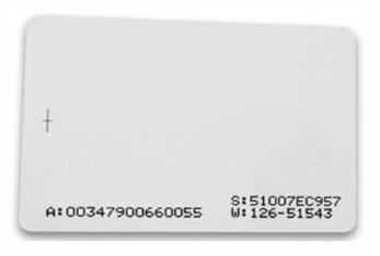 Cartão Proximidade 125Khz Modelo ISO
