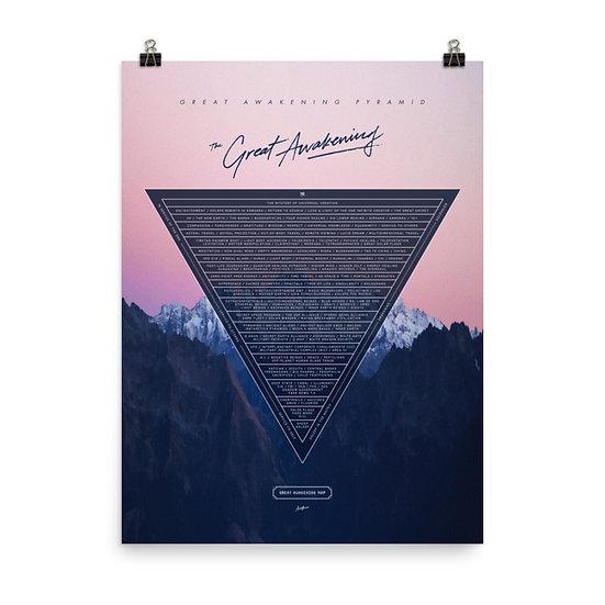 Great Awakening Pyramid Poster 18x24