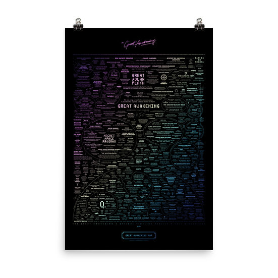 Great Awakening Map Prism Edition Poster