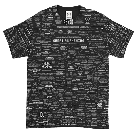 Great Awakening Map All-Over T-Shirt Special Black
