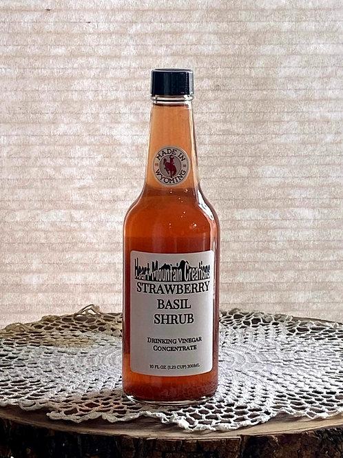 STRAWBERRY BASIL SHRUB with MONKFRUIT
