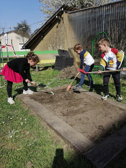 Préparation de la terre pour le jardin