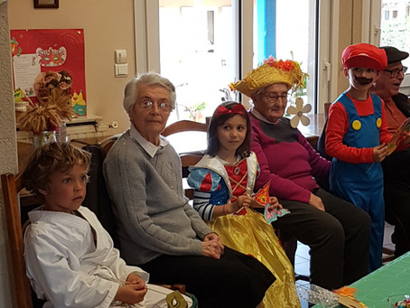 Carnaval avec les anciens