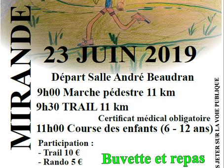 ECNODA Trail 2019 Dimanche 23 Juin