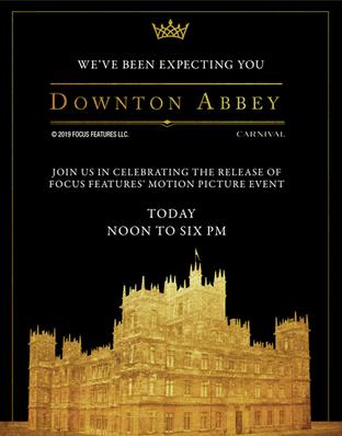 Amazon's Downton Abbey Premiere Party Signage