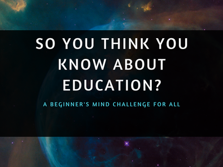 So you think you know about education?