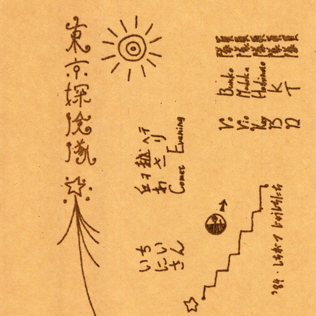 東京探検隊1984 カセットラベル